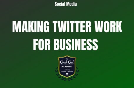 Make Twitter Work for You